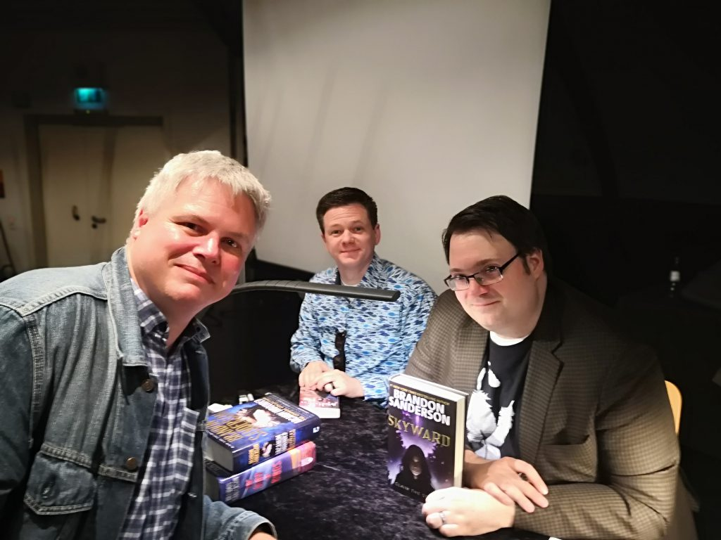 Brandon Sanderson, Isaac Stewart and me